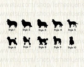 Collie Car Decal, Sheltie Car Decal, Border Collie Car Decal,Standard Poodle Car Decal,Poodle Car Decal,Labradoodle Decal,Goldendoodle Decal