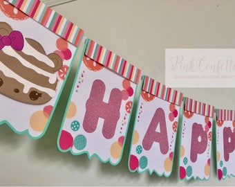 Num Noms Birthday Banner /  Num Noms name banner / Num Noms Party