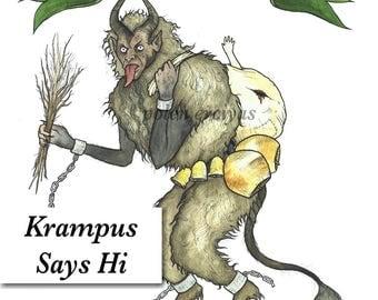 Krampus says hi - High Quality Fine Art Print - Albrecht Dürer Paper