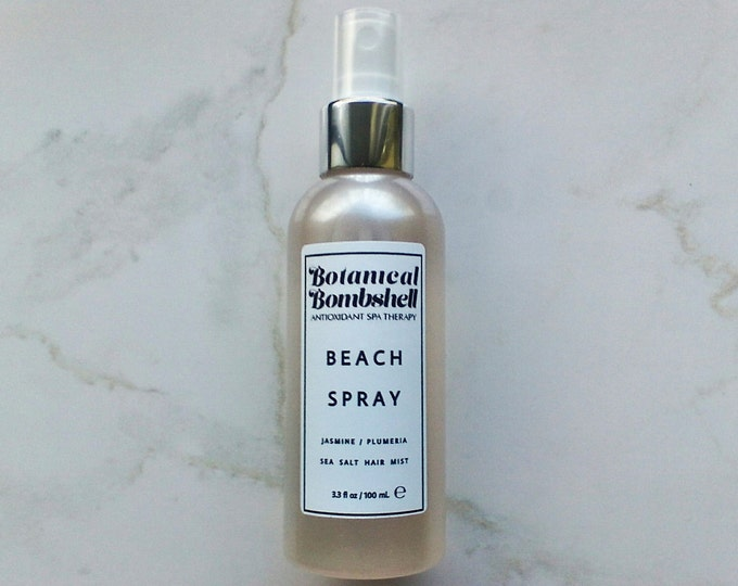 Jasmine Sambac & Plumeria-Frangipani Beach Spray Hair Mist / Sea Spray / Texturizing Salt Spray 3.3 oz / 100 mL