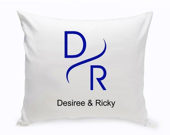 Monogrammed Couples Modern Throw Pillow - Love Throw Pillows - Valentines Pillows - Valentines Gifts  - Housewarming Gifts - Birthday Gifts