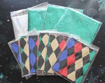 Christmas Table Reusable Fabric Gift Wrap Set