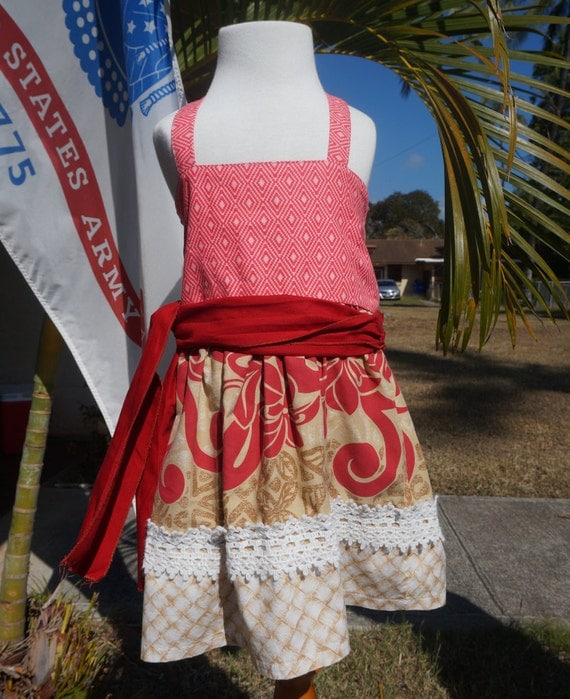 Hand Crafted Disney Moana Dress