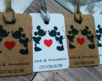 Disney Wedding tags, Disney favor tags, Disney favour tags, Mickey and Minnie wedding, Disney wedding, Disney hen party.