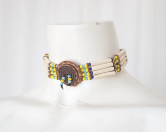 Vintage hand made american Indian choker