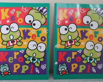 Pair of Vintage Sanrio Keroppi the Frog Notebook Notepad 1995