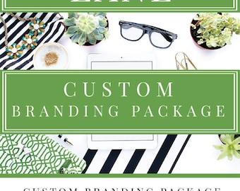 Custom Branding Package, modern logo, marketing set, stylish logo, black & white logo, watercolor logo, floral logo, ooak logo, brand logo