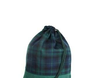 Tartan Blue Green Gym Bag - hannisch