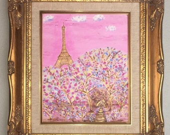 Paris Painted in Pink and Gold