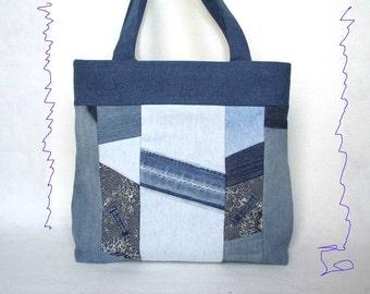 UPCYCLING  /// Jeans BAG BLUE / Blue shoulder bag from Jeans / Blue bag