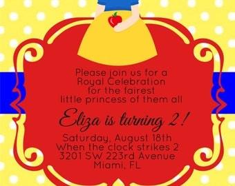 Snow White Invitations, Cute Snow White, Snow White & the 7 Dwarfs, Disney Princess