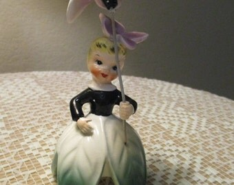 SALE!! Vintage Napco Flower Girl of the Month Figurine--February 1956