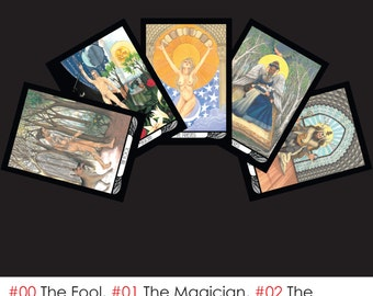 Hardy Tarot Postcard Set - 22 Postcards, Tarot Art, Stationary, Postcard Sets