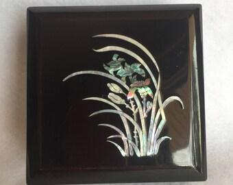 Black Lacquer Trinket Box