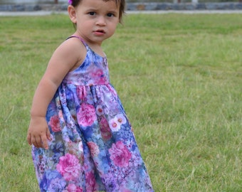 Baby's/Girls Blossom Dress with Nappy Cover size 0000-3