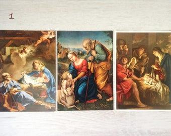 10 Italian Nativity religious postcards vintage