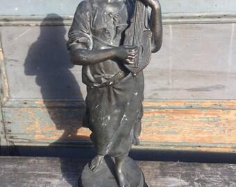 Large Antique Metal Statue