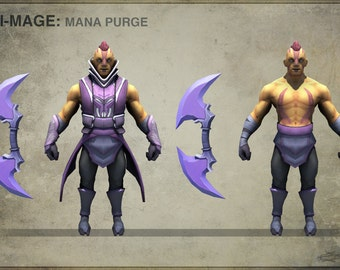 DISCOUNTED PRICE 50% + free shipping ! Dota 2 Anti-Mage cosplay costume