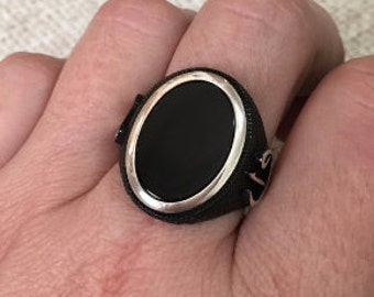 925 Sterling Silver Ottoman jewelry, ottoman ring, jewelry, Black Onyx ring, Mens Jewelry, Men's Ring, Mens Gemstone Ring mens gift