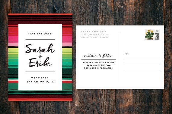 Southwestern Save-the-Date Post Card