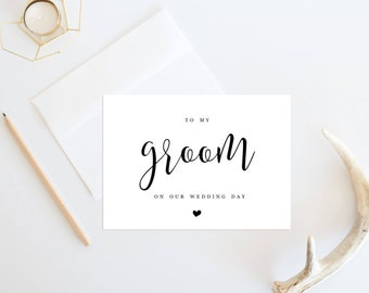 To my Groom, Printable Wedding Card, To my Husband card, Card for Groom, Printable Wedding Card, On Wedding Day cards,