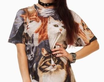 Cat T Shirt / Cat Tee / Cute Cat Tee / Fancy Cat Tee / Cat Tee Illustration / Cat Shirt / Kitty Shirt / Kitty Tee