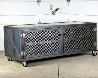 Industrial Media Console - Credenza - Storage Cabinet