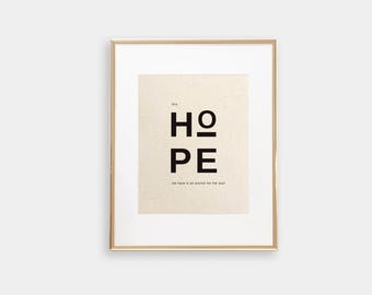 This Hope We Have Is An Anchor For The Soul | Hebrews 6:19 | Christian Wall Art | Cotton Art | Faith Print | Scandi | Modern Typography