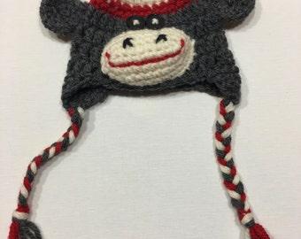 18 Inch Doll, American Girl, Sock Monkey Toque