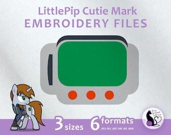 My Little Pony - Fallout equestria Littlepip cutie mark - Embroidery Machine Design