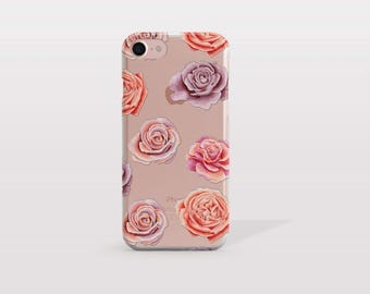 Rose iPhone 7 Case, iPhone 7 Plus Case, iPhone 6S Case, iPhone 6 Case, i7 Cases, i6 Cases, iPhone SE Case, Tech Gift For Her - KT256