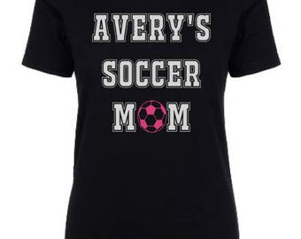 Personalized Soccer Mom Tshirt / Soccer Mom Tshirt / Customized Soccer Mom Shirts / Soccer Mom Tops / Persoanlized Soccer Mom Tees