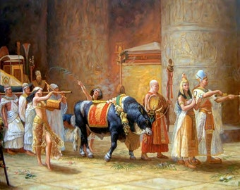 The Procession - Egyptian Art - Handmade Oil Painting On Canvas