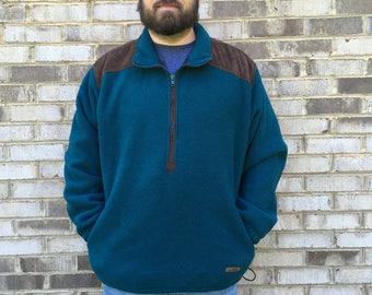 1 DOLLAR SHIPPING // Extra Large LL Bean Dark Green Pullover