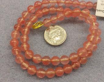 Cherry Quartz 6mm beads semi precious beads