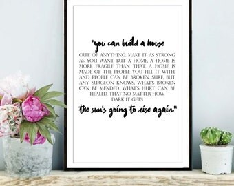 Greys anatomy print, Meredith Grey quote, greys anatomy poster, greys anatomy wall art download, Printable Art, Greys anatomy print