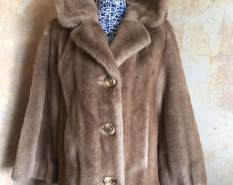 Stunning Vintage Coat in 'Tissavel' French Simulated Fur