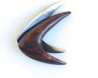 Atomic Boomerang Brooch - Mid Century Modern Brooch - Atomic Brooch - Atomic Boomerang Pin - Mid Century Modern Pin - Atomic Pin - Vintage