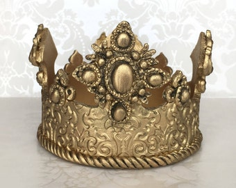 Gold Crown Cake Topper/ Prince Crown Cake Topper/ Gold Cake Topper/ Baby Shower Cake Topper/ Royal Prince Baby Shower/ Royal Crown Cake Top