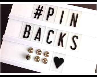 Pin backs