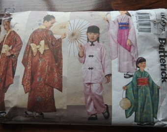 Butterick 6697 Girl's Oriental Outfits Sewing Pattern