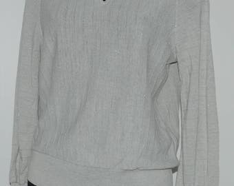 Vintage grey metallic thread sweater Size 38 FR