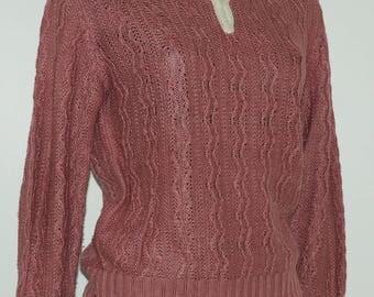 Vintage pink sweater Size 38 FR
