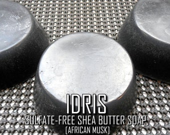 The Idris Bar | Pure Vegan Sulfate-Free African Musk-Scented Glycerin Soap with Shea Butter