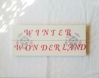 Winter Wonderland Wooden Sign, Christmas Sign, Winter Wall Art, Wooden Wall Sign, Holiday Decoration, Winter Decoration, Winter Decor
