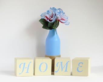 Love Blocks, Wooden Blocks, Block Decor, Home Blocks, Vase Set, Rustic Home Decor, Love Decor, Gift for Her, Country Decor, Love Gift