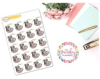 Lazy AF Planner Stickers // Sloth Planner Stickers // Sassy Planner Stickers // Lazy Planner Stickers