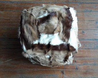 Handmade Square Cow Hide Pouf/Ottoman