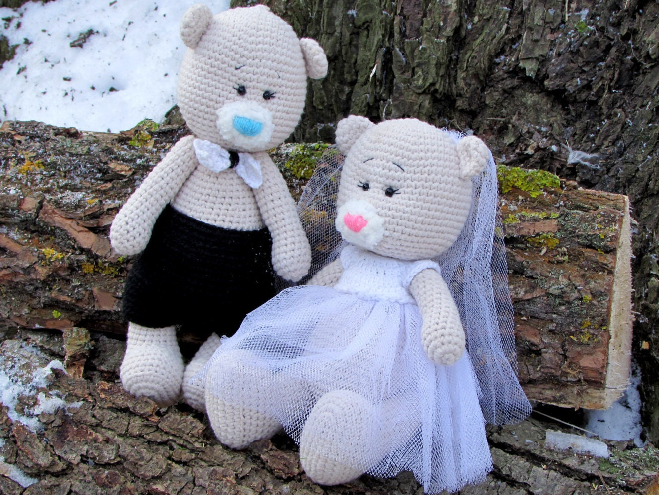 Crochet Wedding Gift: Crochet Wedding Bears Wedding Gifts Bride And Groom Teddy