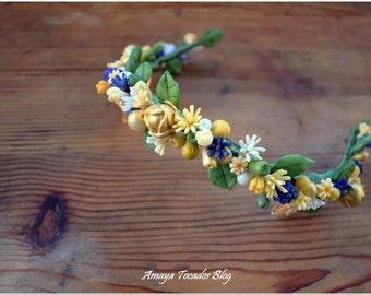 Pik novia-tocado, porcelain flowers / flower comb hair